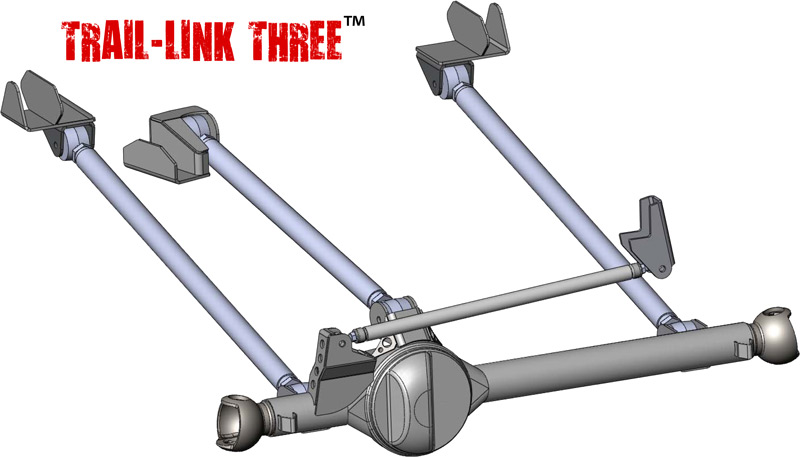 TRAIL LINK THREE™ Front 3-Link Kit (High Steer)