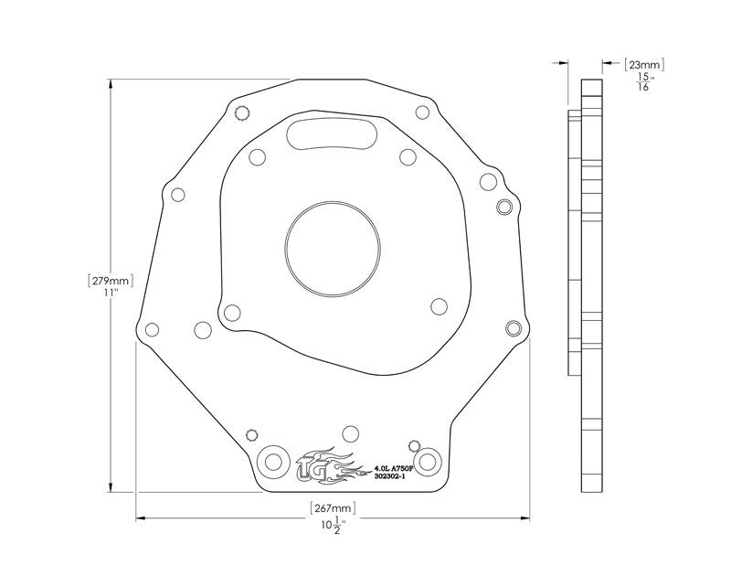 Trail Gear Tacomafj Transfer Case Adapter Plate Kit 4 0l Auto