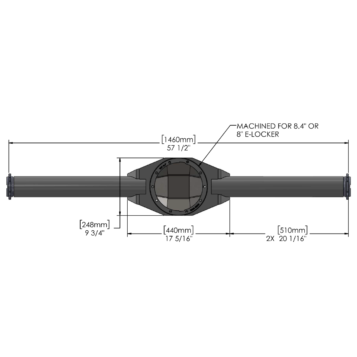 Trail-Gear Fabricated 2005-2015 Tacoma Rear Axle Housing